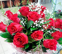 """Букет из розовых роз """"Королева бала"""""""