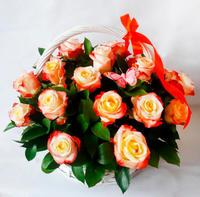 """Корзина  """"Чайные розы"""""""