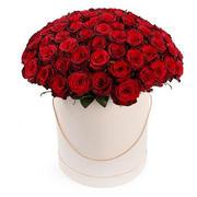 """Розы в шляпной коробке """"Моя любовь"""""""