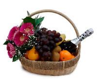 """Корзина с фруктами """"Asti""""  (шампанское в подарок)"""