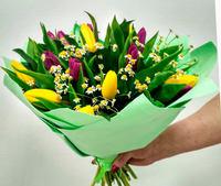 """Букет из тюльпанов """"Весенний привет"""""""