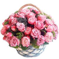 "Корзина с розами ""Любимой маме"""