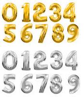 Гелиевые шары из фольги - цифры