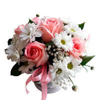 """Коробка с цветами """"Нежное утро"""""""