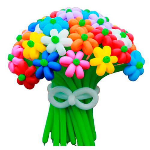 букет ромашек из шаров фото
