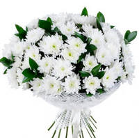 """Букет из белых хризантем """"Для тебя"""""""