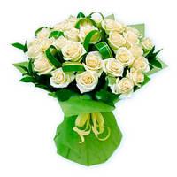 "Букет из белых роз ""Лунная соната"""