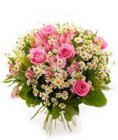"""Букет из розовых роз """"Розовые сны"""""""