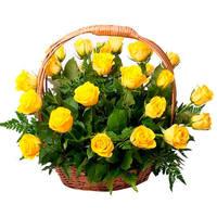 "Корзина из желтых роз ""Солнышко"""