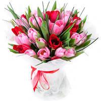 """Букет из тюльпанов """"Настроение весны"""""""