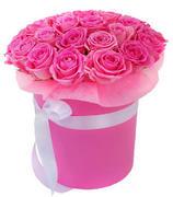 """Розы в шляпной коробке """"Сюрприз"""""""